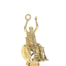 Wheelchair Victory Male Gold Trophy Figure