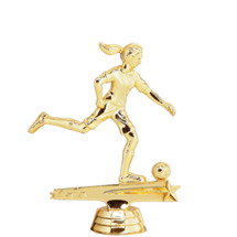 Female All Star Soccer Gold Trophy Figure