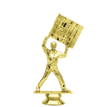 Flagman Gold Trophy Figure
