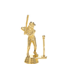Female T-Ball Player Gold Trophy Figure