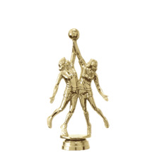 Female Double Action Basketball Gold Trophy Figure