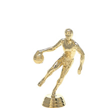 Male Basketball Dribbler Gold Trophy Figure