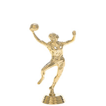 Female Basketball Hookshot Gold Trophy Figure