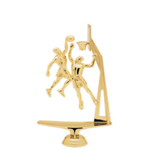 Male Double Action Basketball w/ Hoop Gold Trophy Figure