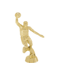 Male Basketball Slam Dunk Gold Trophy Figure