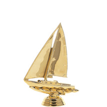 Sailboat Gold Trophy Figure