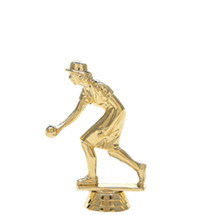 Female Bocce/Lawn Bowler Gold Trophy Figure