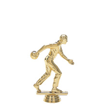 Male Candlepin/Duckpin Bowler Gold Trophy Figure