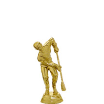 Male Broomball Gold Trophy Figure