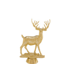 Buck Deer Gold Trophy Figure