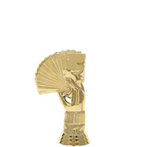 Bridge Hand Gold Trophy Figure