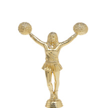 Cheerleader w/ Pom Poms Gold Trophy Figure