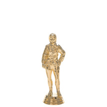 Female Coach Standing Gold Trophy Figure