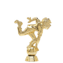 Male Comic Bowler Gold Trophy Figure