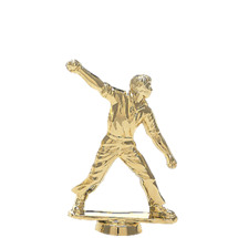 Male Cricket Bowl Gold Trophy Figure