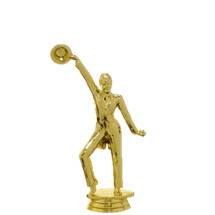 Tap with Pants Female Gold Trophy Figure