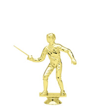 Female Fencing Gold Trophy Figure