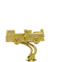 Fire Truck 3d Gold Trophy Figure