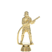 Fireman w/ Hose Gold Trophy Figure