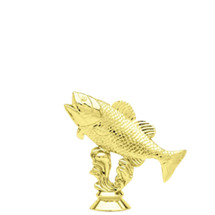 Bass Fish Gold Trophy Figure