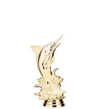 Marlin Fish Gold Trophy Figure