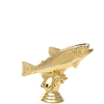 Trout Fish Gold Trophy Figure