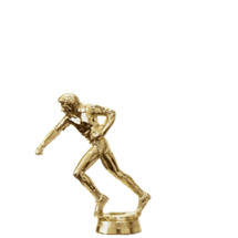 Male Football Flag Gold Trophy Figure