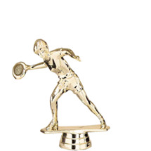 Female Frisbee Gold Trophy Figure