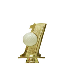 Hole in One Golf Ball Holder Gold Trophy Figure