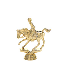 Cutting Horse Gold Trophy Figure