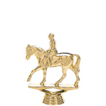 Equestrian Horse Gold Trophy Figure