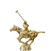 Polo Horse Gold Trophy Figure
