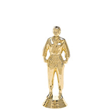 Judo Standing Female Gold Trophy Figure