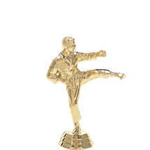 Karate Kick Male Gold Trophy Figure