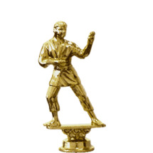 Karate Standing Male Gold Trophy Figure