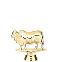 Brahma Bull Gold Trophy Figure