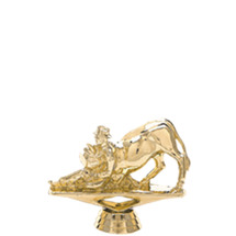 Bull Dogger Gold Trophy Figure