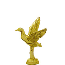 Mallard Duck Flying Gold Trophy Figure