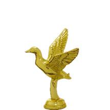 Mallard Duck Flying Gold Trophy Figure