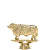 Hereford Bull Gold Trophy Figure