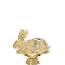 Rabbit Gold Trophy Figure