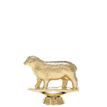 Sheep Gold Trophy Figure
