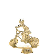 Moto-Cross Bike w/Rider Gold Trophy Figure