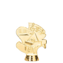 Piano 3-D Gold Trophy Figure
