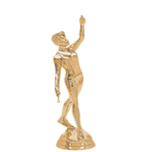 Baton Twirler Gold Trophy Figure