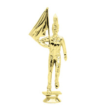Honor Guard Male Gold Trophy Figure
