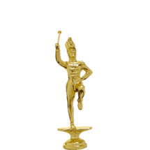 Drum Major Gold Trophy Figure
