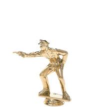 Police Pistol Combat Gold Trophy Figure