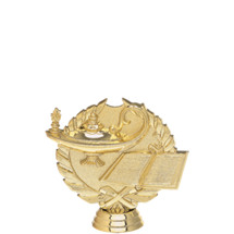 Lamp of Learning 3-D Gold Trophy Figure