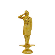 Girl Scout Gold Trophy Figure